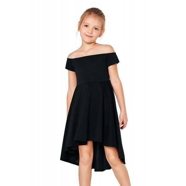 Black All The Rage Skater Dress for Little Girls