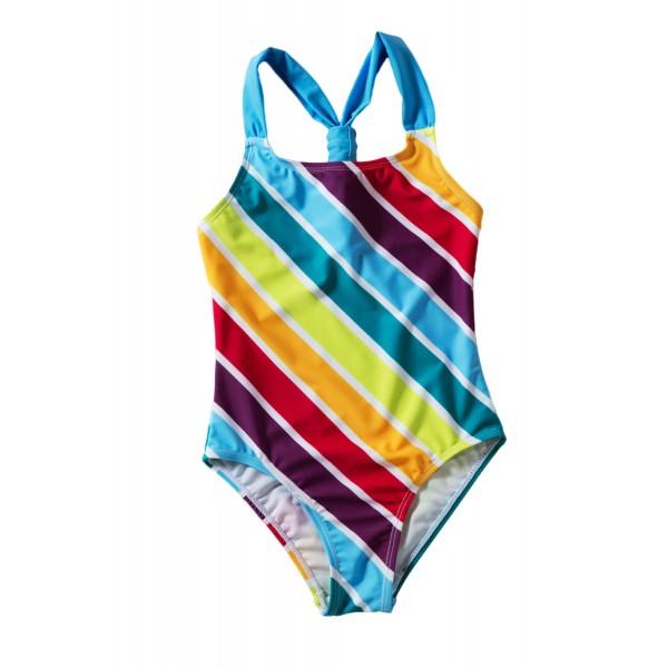Baby Girls Multi Stripe One Piece Swimsuit