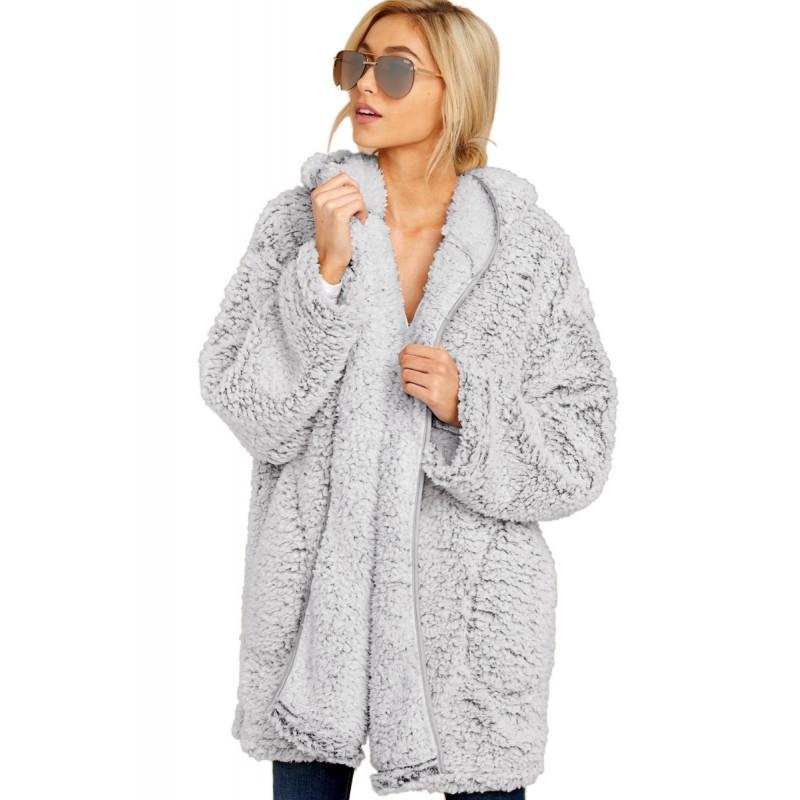 Leave Them Waiting Light Gray Wubby Coat