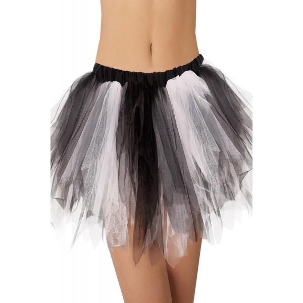 Black White Vintage Tutu Skirt